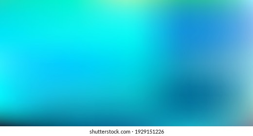 Light blue, green vector blurred pattern. Shining colorful blur illustration in abstract style. Your business gesign.