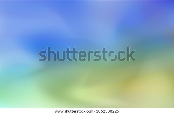 Light Blue, Green vector blurred and colored backdrop. An elegant bright illustration with gradient. A new texture for your design.