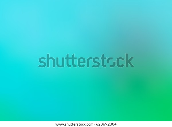 Light blue, green vector blurred colored illustration. Brand-new design for your business. Creative background in halftone style with gradient.