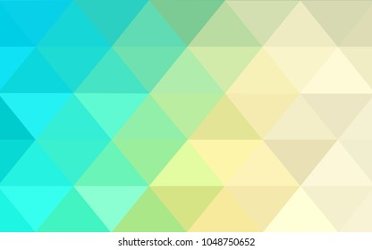 Light Blue, Green vector blurry triangle background design. Geometric background in Origami style with gradient.