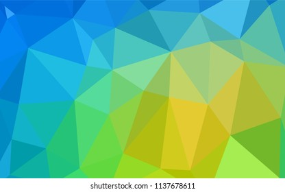 Light Blue, Green vector blurry triangle texture. A sample with polygonal shapes. Textured pattern can be used for background.
