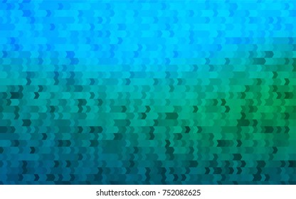Light Blue, Green vector blurry rectangular background. Geometric background in square style with gradient. The pattern can be used for brand-new background.