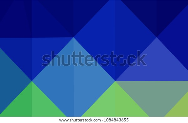 Light Blue, Green vector blurry triangle template. Creative illustration in halftone style with gradient. Textured pattern can be used for background.
