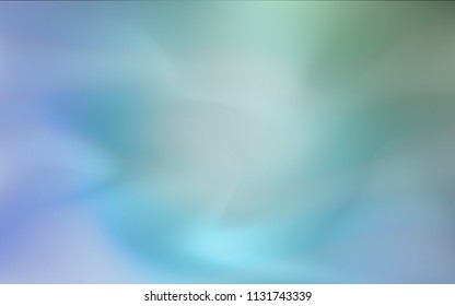 Light Blue, Green vector glossy abstract cover. Modern geometrical abstract illustration with gradient. The blurred design can be used for your web site.