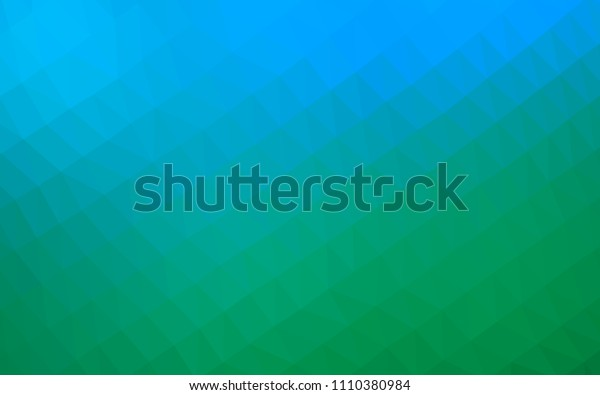 Light Blue, Green vector hexagon mosaic texture. Creative illustration in halftone style with gradient. The template can be used as a background for cell phones.