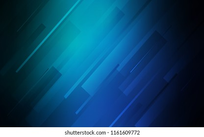 Light Blue, Green vector layout with flat lines. Lines on blurred abstract background with gradient. Template for your beautiful backgrounds.