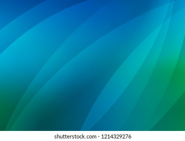 Light Blue, Green vector layout with flat lines. Lines on blurred abstract background with gradient. Smart design for your business advert.