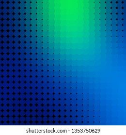 Light Blue, Green vector layout with circles. Colorful illustration with gradient dots in nature style. Pattern for business ads.