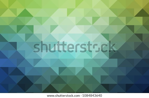 Light Blue, Green vector low poly template. A sample with polygonal shapes. The completely new template can be used for your brand book.