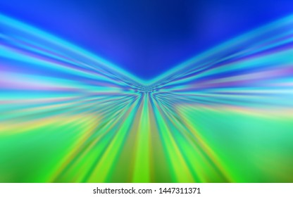 Light Blue, Green vector pattern with wry lines. A circumflex abstract illustration with gradient. Template for cell phone screens.