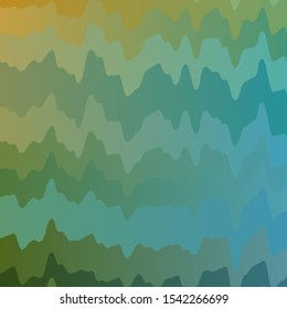 Light Blue, Green vector pattern with curves. Gradient illustration in simple style with bows. Best design for your posters, banners.