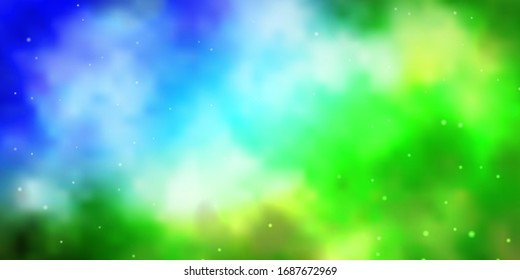 Light Blue, Green vector pattern with abstract stars. Modern geometric abstract illustration with stars. Design for your business promotion.