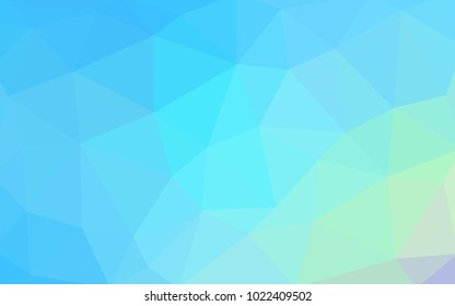 Attractive Light Blue, Green Vector Polygonal Illustration, Which Consist Of  Triangles. Triangular Design For