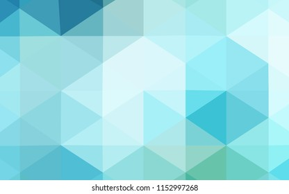Light Blue, Green vector polygonal pattern. Colorful illustration in abstract style with gradient. A new texture for your design.