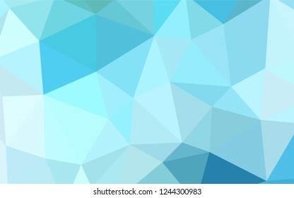 Light Blue, Green vector polygonal pattern. Polygonal abstract illustration with gradient. Brand new design for your business.