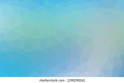 Light Blue, Green vector polygonal pattern. Shining illustration, which consist of triangles. Polygonal design for your web site.