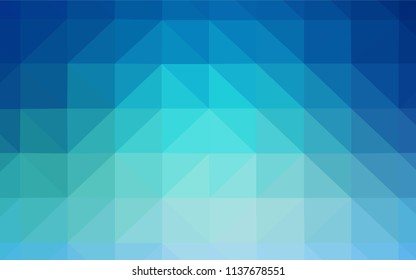Light Blue, Green vector shining triangular backdrop. Colorful illustration in abstract style with triangles. Brand new style for your business design.