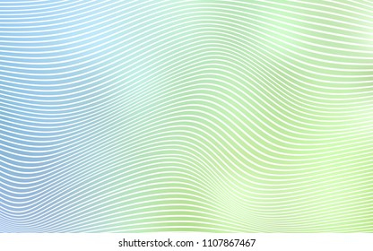 Light Blue, Green vector template with abstract lines. Geometric illustration in Origami style with gradient.  The completely new template for your brand book.