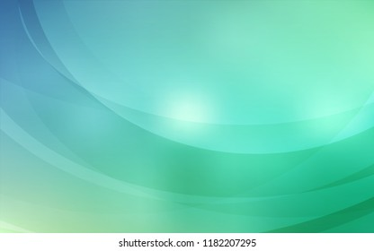 Light Blue, Green vector template with lines, ovals. Shining crooked illustration in marble style. New composition for your brand book.