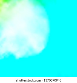 Light Blue, Green vector template with sky, clouds. Shining illustration with abstract gradient clouds. Pattern for your commercials.