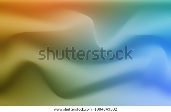 Light Blue, Green vector template with lines, ovals. Glitter abstract illustration with wry lines. New composition for your brand book.