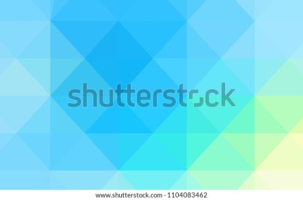 Light Blue, Green vector template with gradient triangles. A sample with polygonal shapes. Polygonal design for your web site.