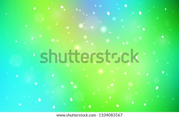 Light Blue, Green vector template with ice snowflakes. Blurred decorative design in xmas style with snow. New year design for your ad, poster, banner.