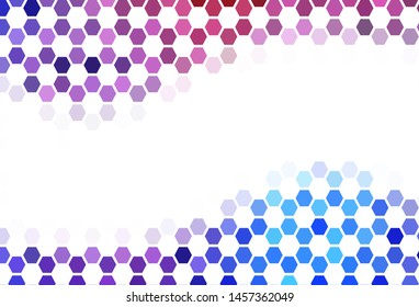 Light Blue, Green vector texture with colorful hexagons. Colorful hexagons on blur backdrop. Pattern for ads, leaflets.