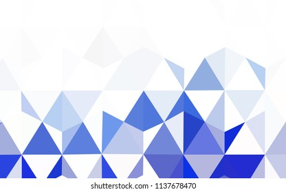 Light Blue, Green vector triangle mosaic cover. Creative geometric illustration in Origami style with gradient. Brand new style for your business design.