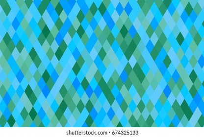 Light Blue, Green vector triangle mosaic background. A completely new color illustration in a vague style. The completely new template can be used for your brand book.