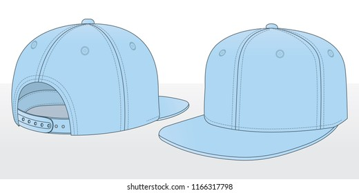 Light blue hip hop cap & snap back