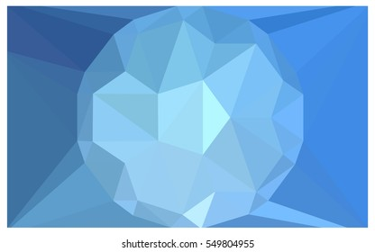 Light BLUE Low poly crystal background. Polygon design pattern. Low poly vector illustration, low polygon background.