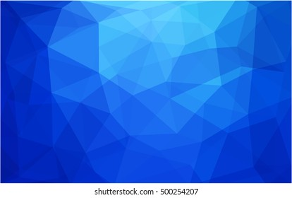 Light blue low poly template. Creative geometric illustration in Origami style with gradient. The polygonal design can be used for your web site.