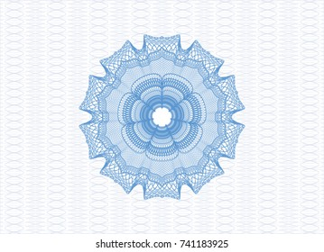 Light blue money style rosette