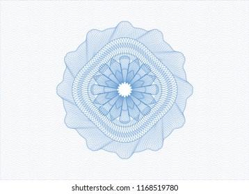 Light blue passport money rossete