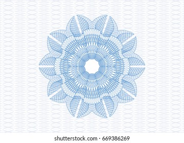 Light blue passport money style rossete