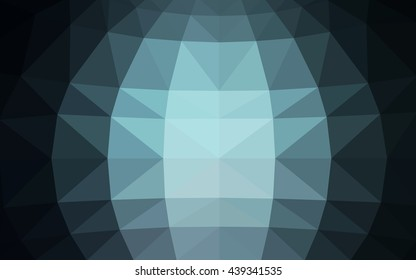 Light blue polygonal illustration, which consist of triangles. Triangular design for your business. Geometric background in Origami style with gradient.