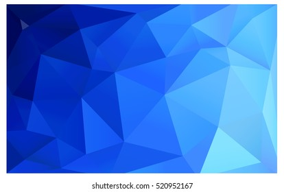 Light BLUE polygonal illustration, which consist of triangles. Triangular pattern for your business design. Geometric background in Origami style with gradient.