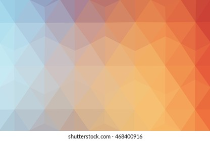 Light blue, red abstract mosaic pattern. Creative illustration in halftone style with gradient. A new texture for your design.