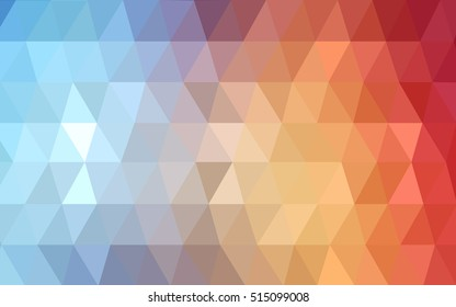 Light blue, red low poly template. Glitter abstract illustration with an elegant design. The polygonal design can be used for your web site.