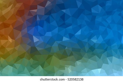Light blue, red polygonal background. Colorful abstract illustration with gradient. A completely new design for your business.