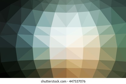 Light blue, red polygonal illustration, which consist of triangles. Triangular design for your business. Geometric background in Origami style with gradient.