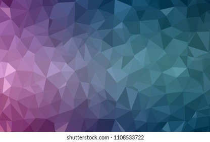 Light Blue, Red vector abstract polygonal background. Colorful illustration in polygonal style with gradient. Template for cell phone's backgrounds.