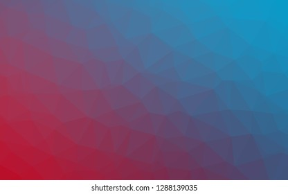 Light Blue, Red vector abstract polygonal layout. Colorful illustration in abstract style with gradient. New texture for your design.