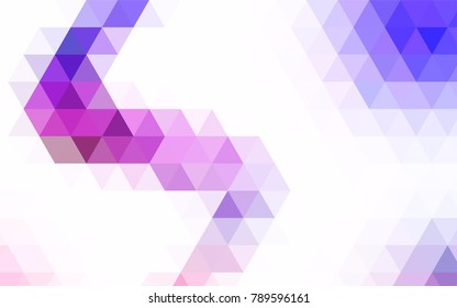 Light Blue, Red vector abstract mosaic template. Brand-new colored illustration in blurry style with gradient. A completely new template for your business design.