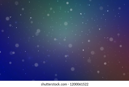 Light Blue, Red vector cover with beautiful snowflakes. Blurred decorative design in xmas style with snow. The pattern can be used for new year leaflets.