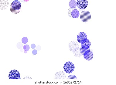 Light Blue, Red vector pattern with spheres. Glitter abstract illustration with blurred drops of rain. Pattern for beautiful websites.