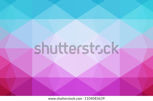 Light Blue, Red vector polygonal background. Colorful illustration in polygonal style with gradient. Brand new design for your business.