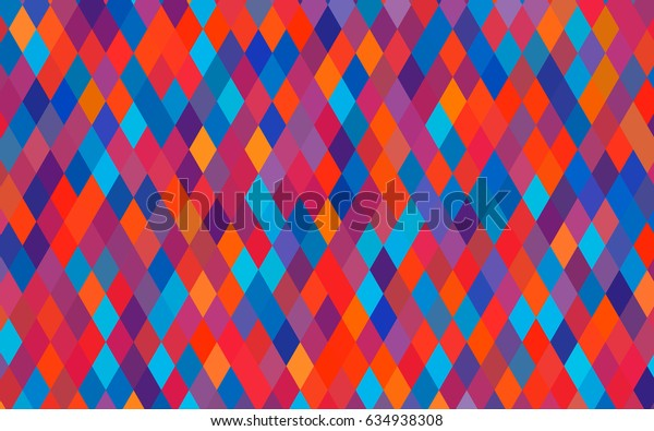 Light Blue, Red vector polygonal background. A sample with polygonal shapes. Triangular pattern for your business design.