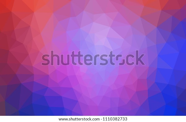 Light Blue, Red vector shining triangular backdrop. Triangular geometric sample with gradient.  Pattern for a brand book's backdrop.